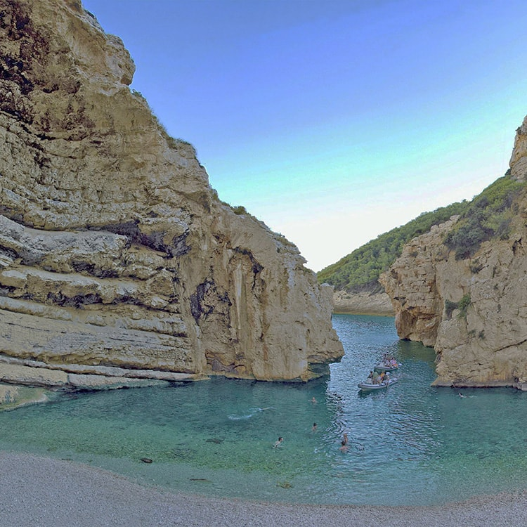 Stiniva cove, Vis - Three Caves Tour visited attraction